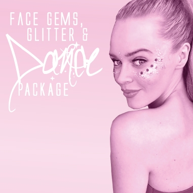 Face Gems & Glitter Hen Dance Package, Dance Party Experience